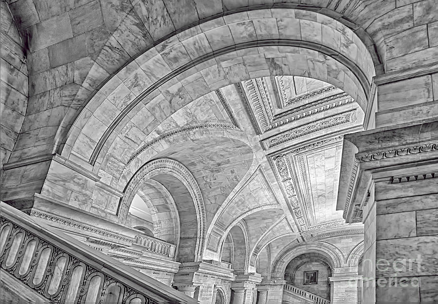 New York City Library Photograph - Nyc Public Library by Susan Candelario