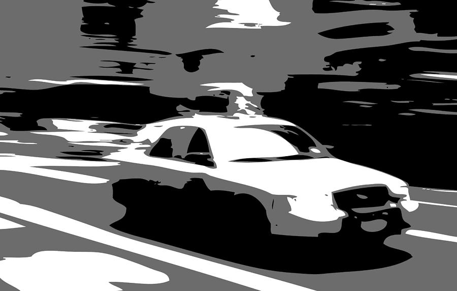 Taxi Photograph - Nyc Taxi Bw3 by Scott Kelley