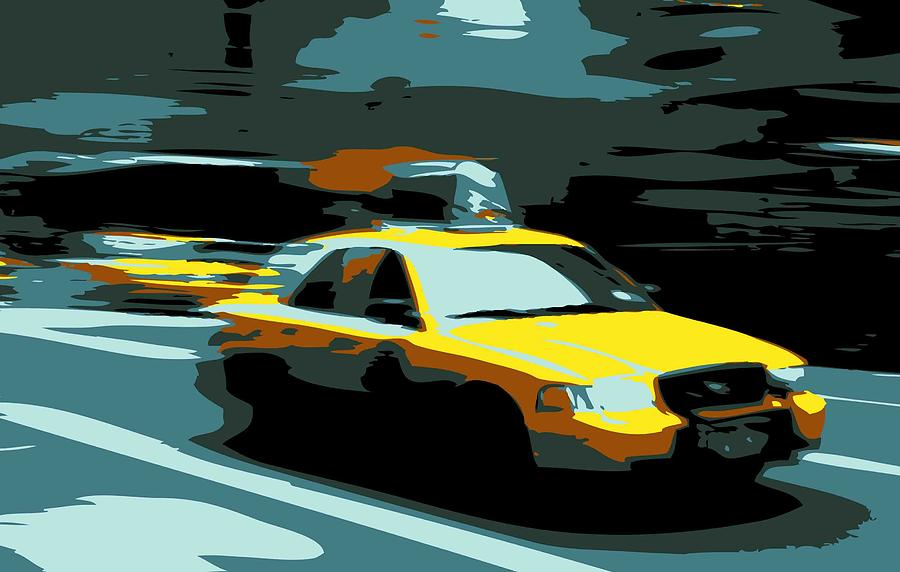 Taxi Photograph - Nyc Taxi Color 6 by Scott Kelley