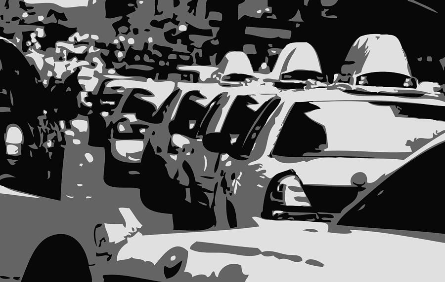 Taxi Photograph - Nyc Traffic Bw3 by Scott Kelley