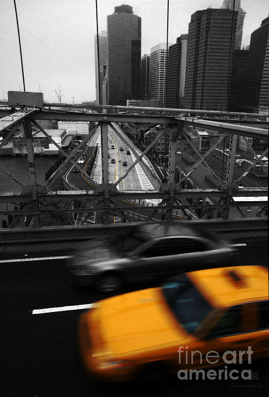 Ny Photograph - Nyc Yellow Cab by Hannes Cmarits