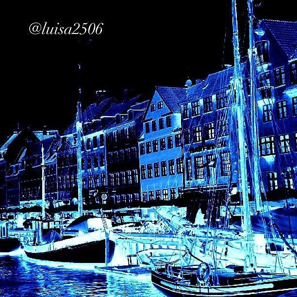Blue Photograph - #nyhavn #copenhagen #denmark #landscape by Luisa Azzolini