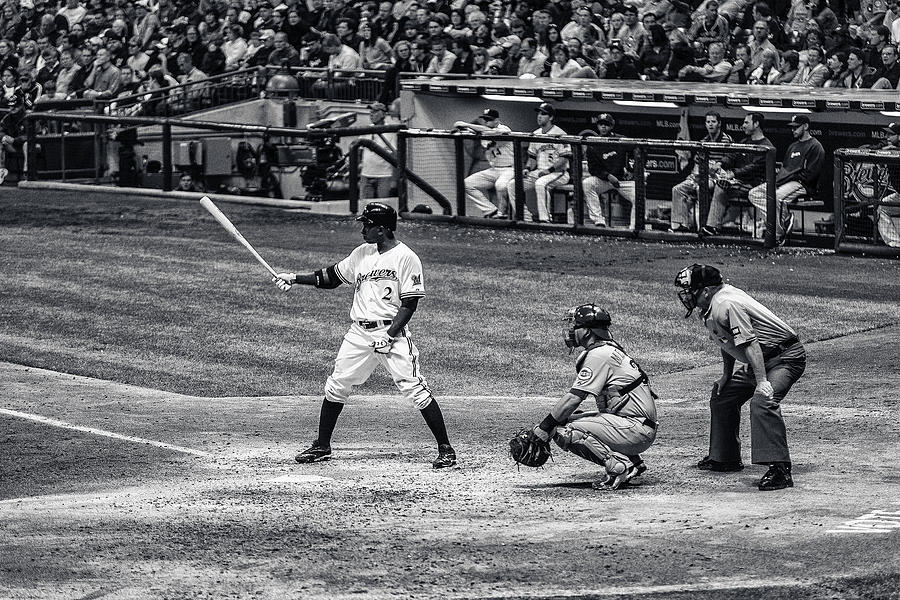Milwaukee Brewers Photograph - Nyjer Morgan by CJ Schmit