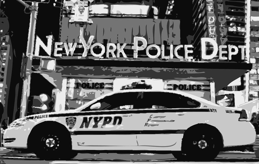 Nypd Photograph - Nypd Bw8 by Scott Kelley