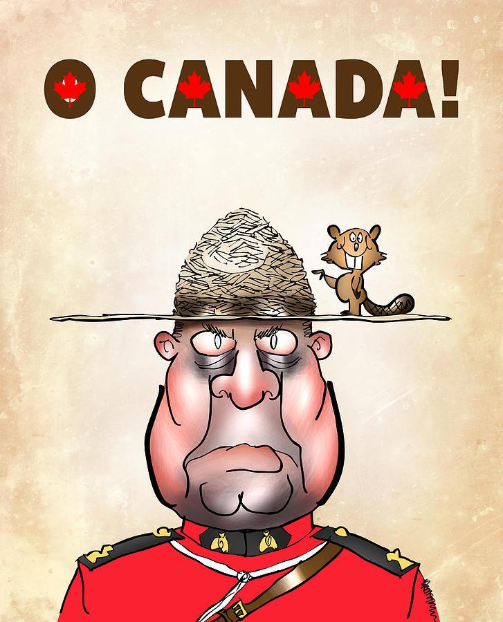 Canada Digital Art - O Canada by Mark Armstrong