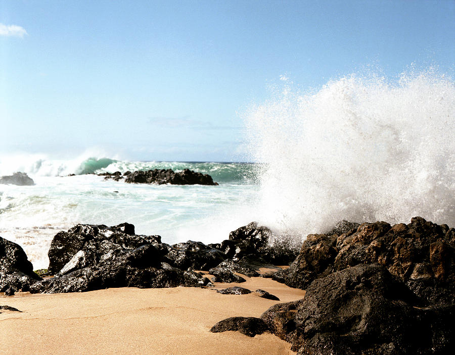 Breaker Photograph - Oahu North Shore Breaker by John Bowers