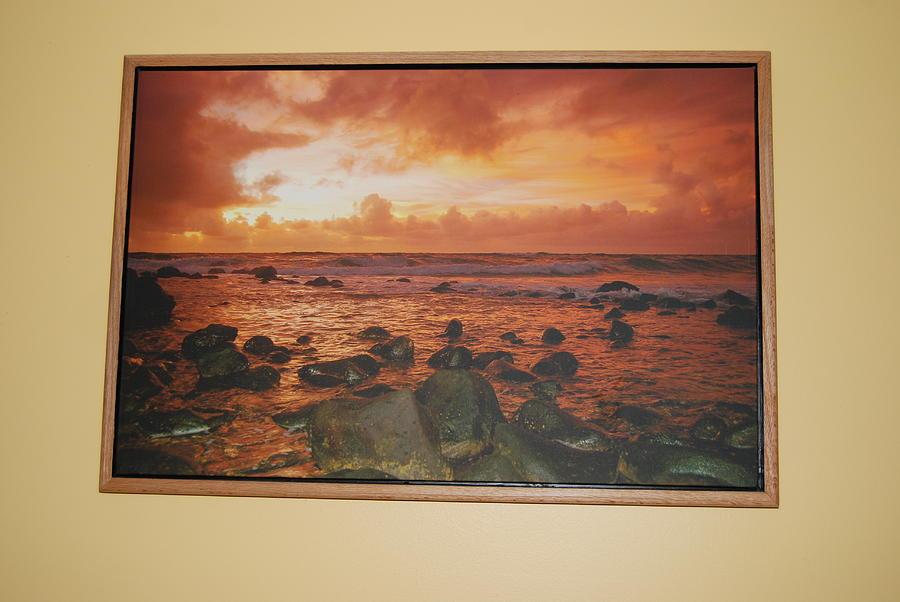 Oak Floater Frame Photograph