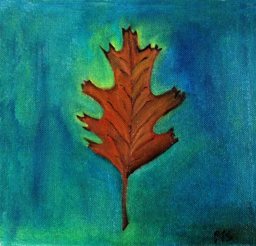 Fall Painting - Oak Leaves  by Prachi  Shah