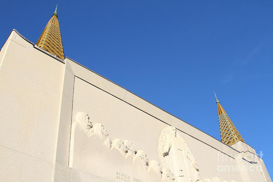 Bayarea Photograph - Oakland California Temple . The Church Of Jesus Christ Of Latter-day Saints . 7d11347 by Wingsdomain Art and Photography