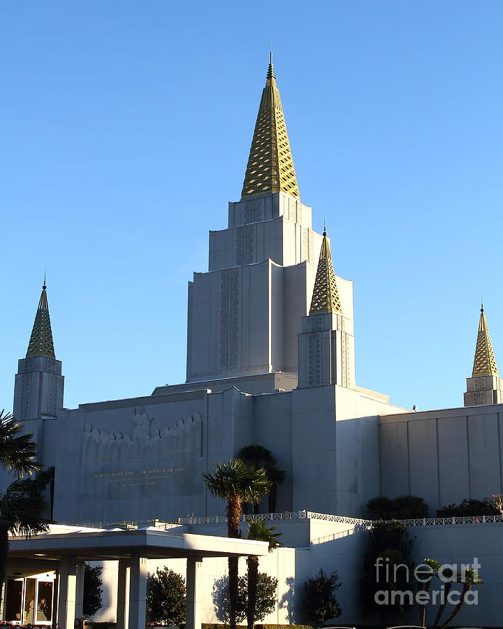 Bayarea Photograph - Oakland California Temple . The Church Of Jesus Christ Of Latter-day Saints . 7d11374 by Wingsdomain Art and Photography
