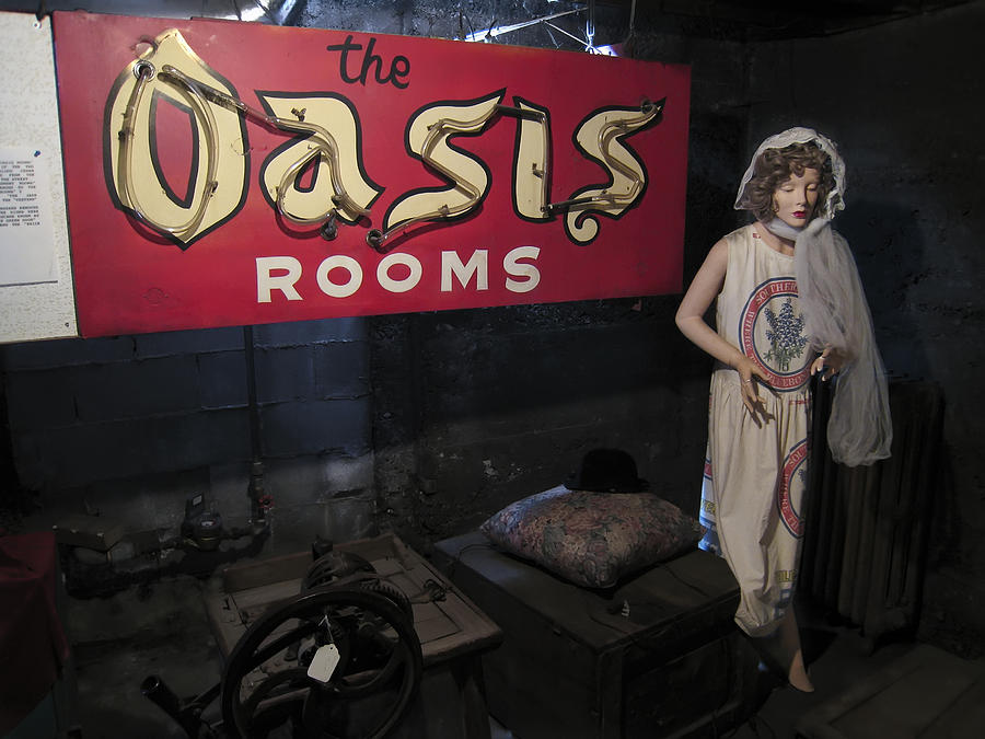 Prostitution Photograph - Oasis Bordello Basement - Wallace Idaho by Daniel Hagerman