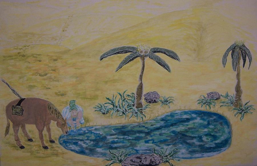 Surrealism Painting - Oasis In The Desert Of My Mind by Timothy  Foley
