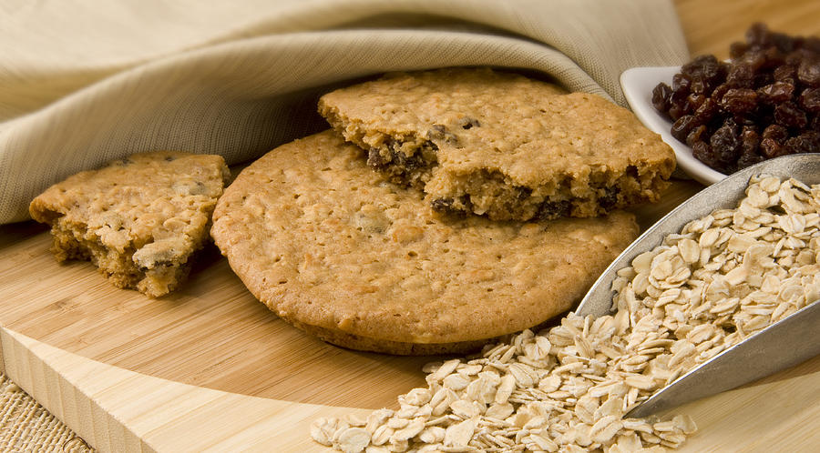 Food Photograph - Oatmeal Raisin Cookie by Rob Outwater