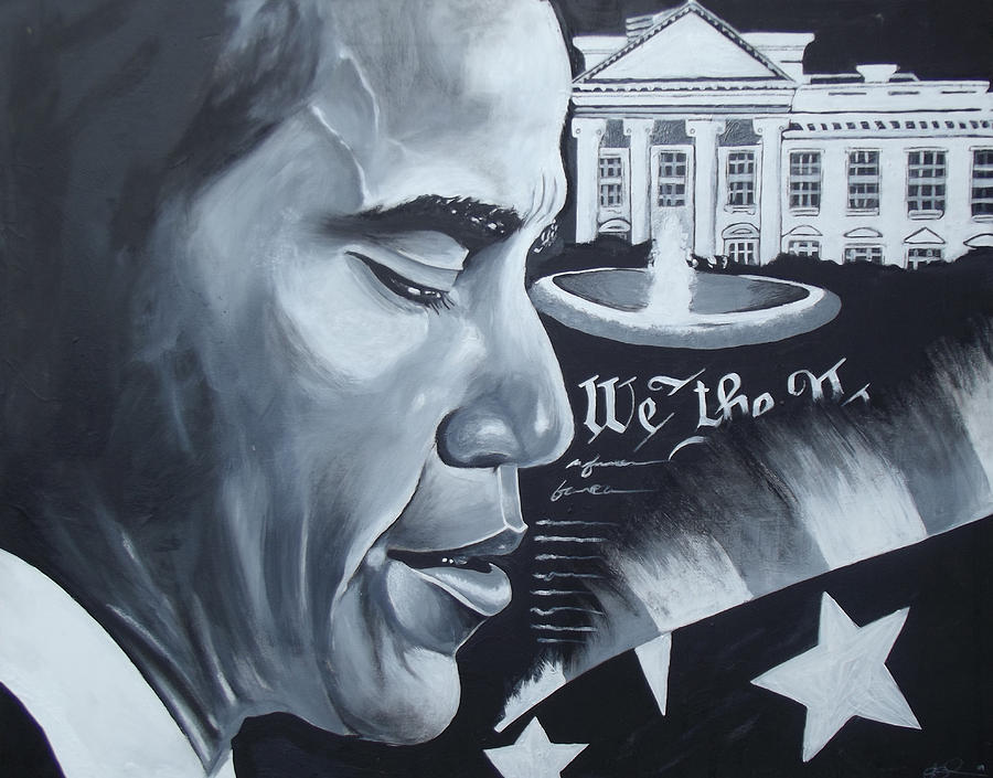 Oil Paintings Painting - Obama by Alonzo Butler