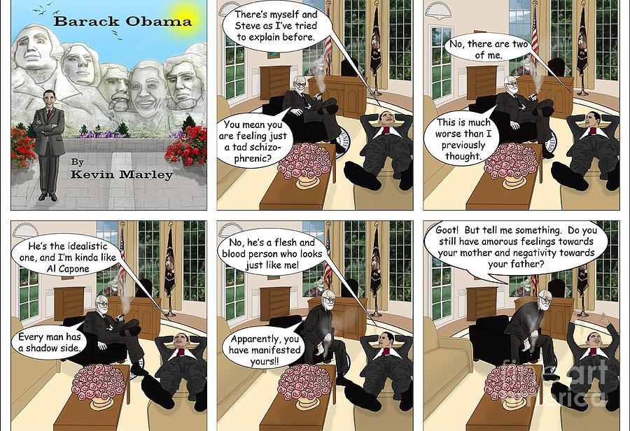 Barack  Obama Digital Art - Obama N Freud I by Kevin  Marley