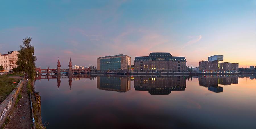 Berlin Photograph - Oberbaumbridge And Mediaspree by Greta Schmidt