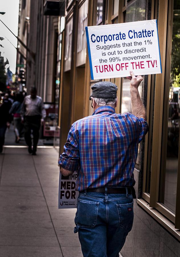 Occupy Photograph - Occupy Chicago V by Roger Lapinski