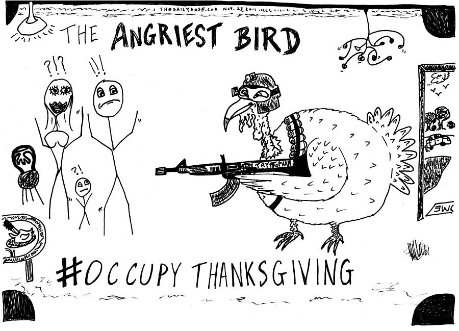 thanksgiving riddles coloring pages | Occupy Thanksgiving Cartoon Drawing by Yasha Harari