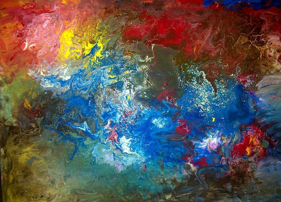 Blue Sea Painting - Ocean Blue by Kelly Turner