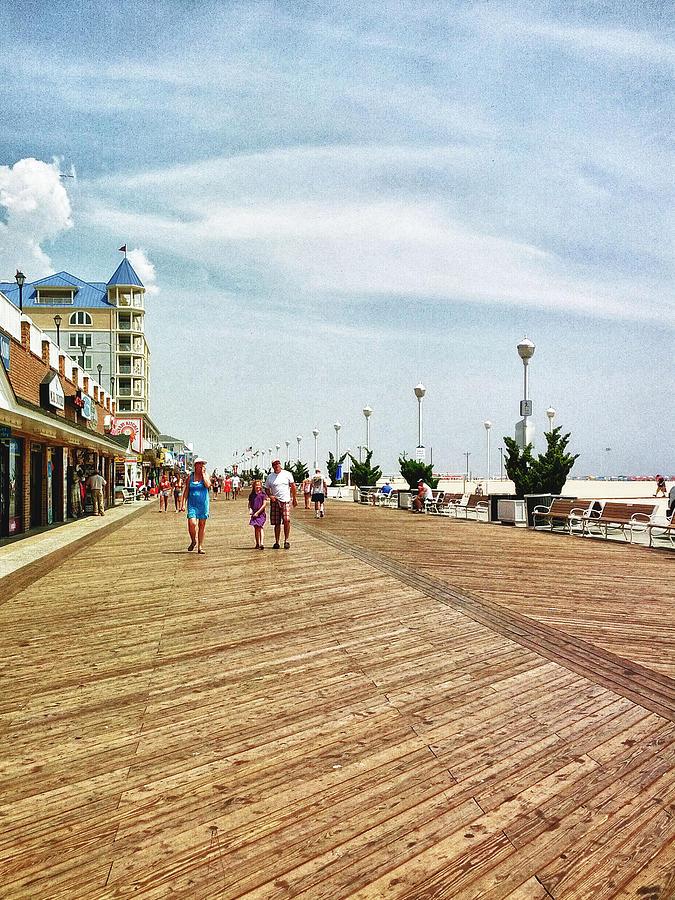 Ocean City Photograph - Ocean City Boardwalk by Kelly Reber