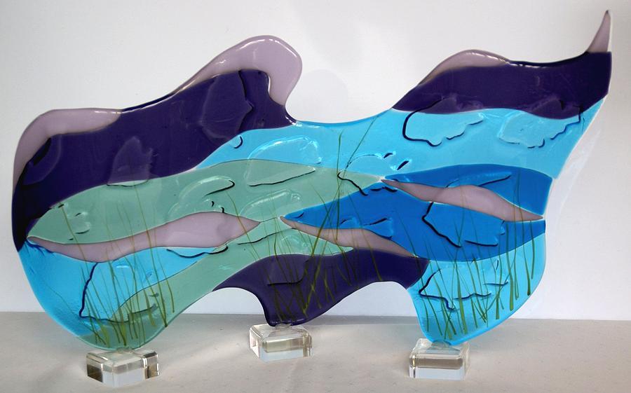 Glass Sculpture - Ocean by Eleanor Brownridge