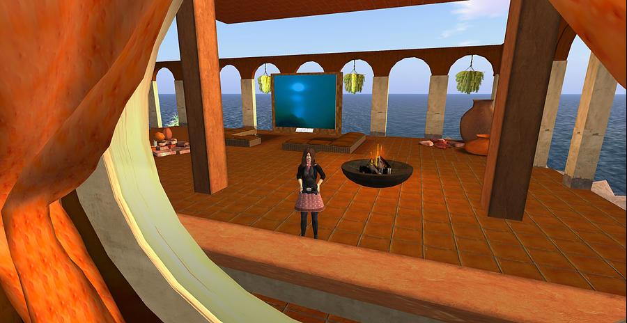 Photograph Digital Art - Ocean Lounge Area by Amy Bradley