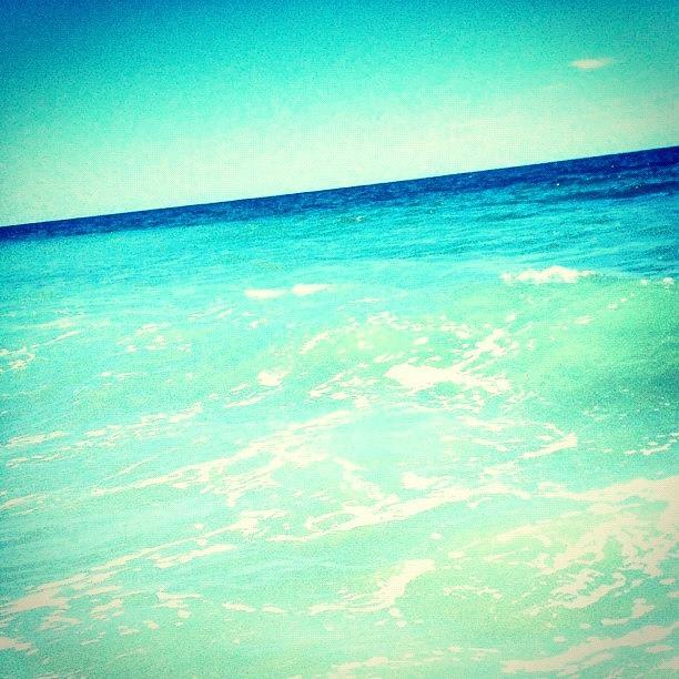 Blue Photograph - #ocean #plain #myrtlebeach #edit #blue by Katie Williams