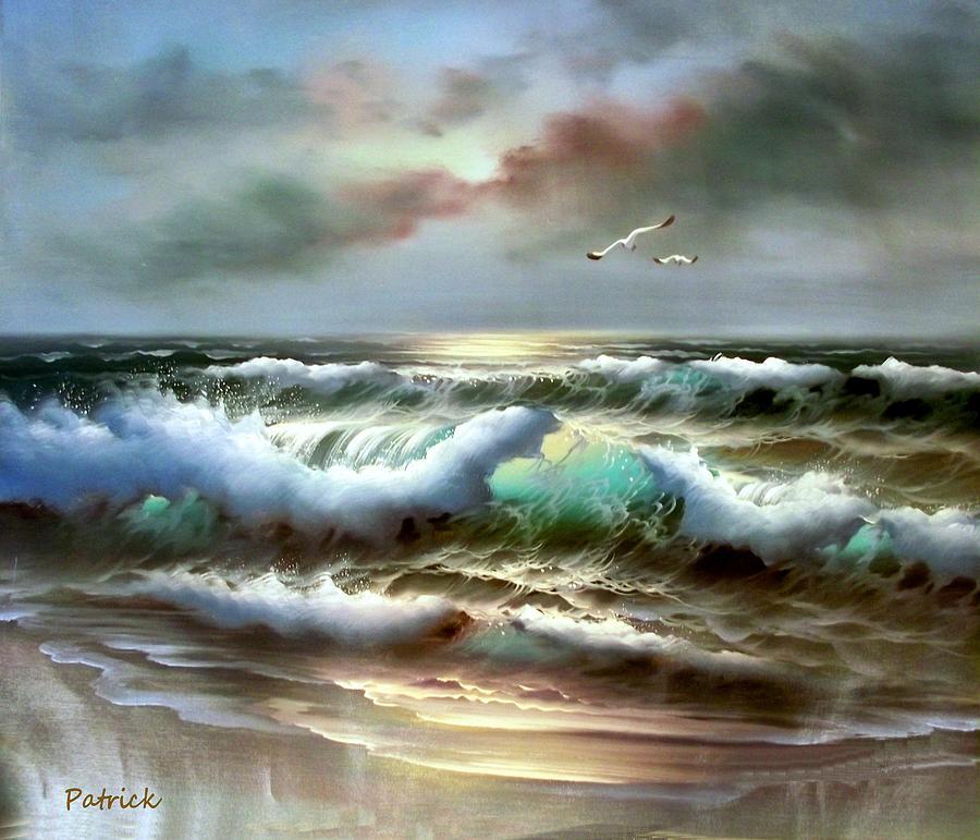 ocean scene painting by patrick raffaelo