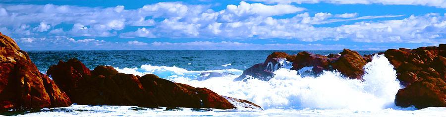 Landscape Digital Art - Ocean Surf by Phill Petrovic