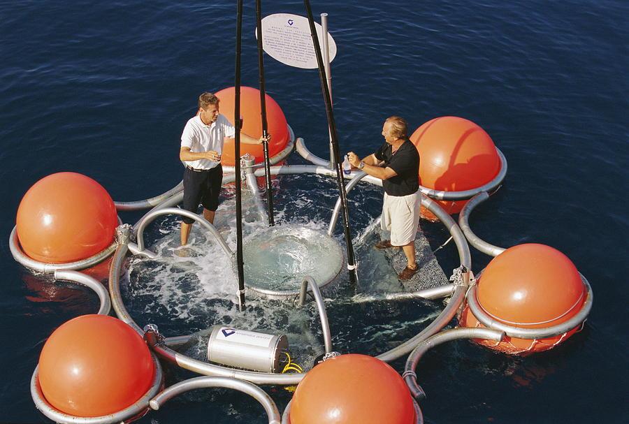 Fountain Photograph - Ocean Technology by Alexis Rosenfeld