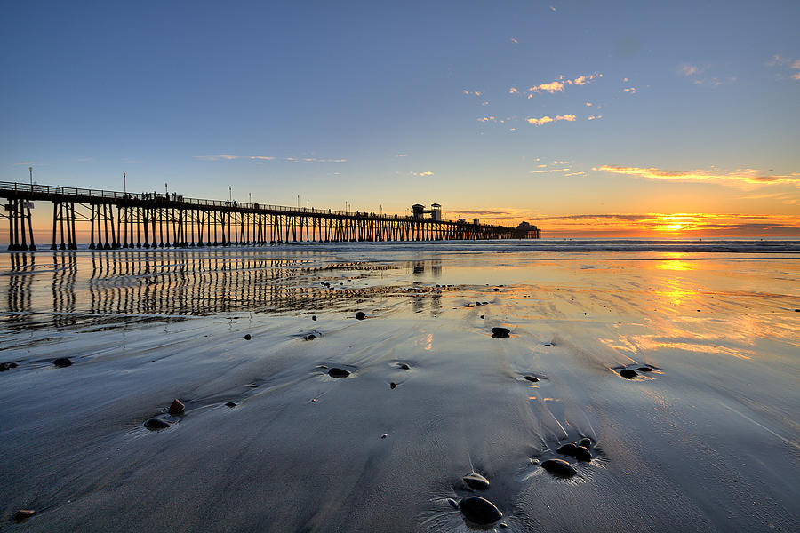 California Photograph - Oceanside Pier by Peter Tellone