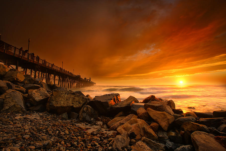 Larry Marshall Photograph - Oceanside Sunset 4 by Larry Marshall