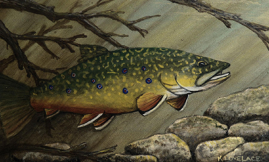 Fish Painting - October Glory by Kathy Lovelace
