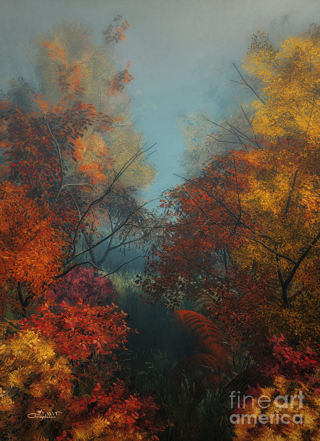 3d Digital Art - October by Jutta Maria Pusl