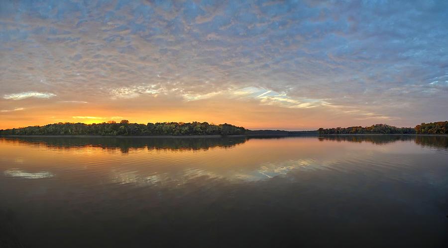 Lake Photograph - October Sky by Brian Mollenkopf