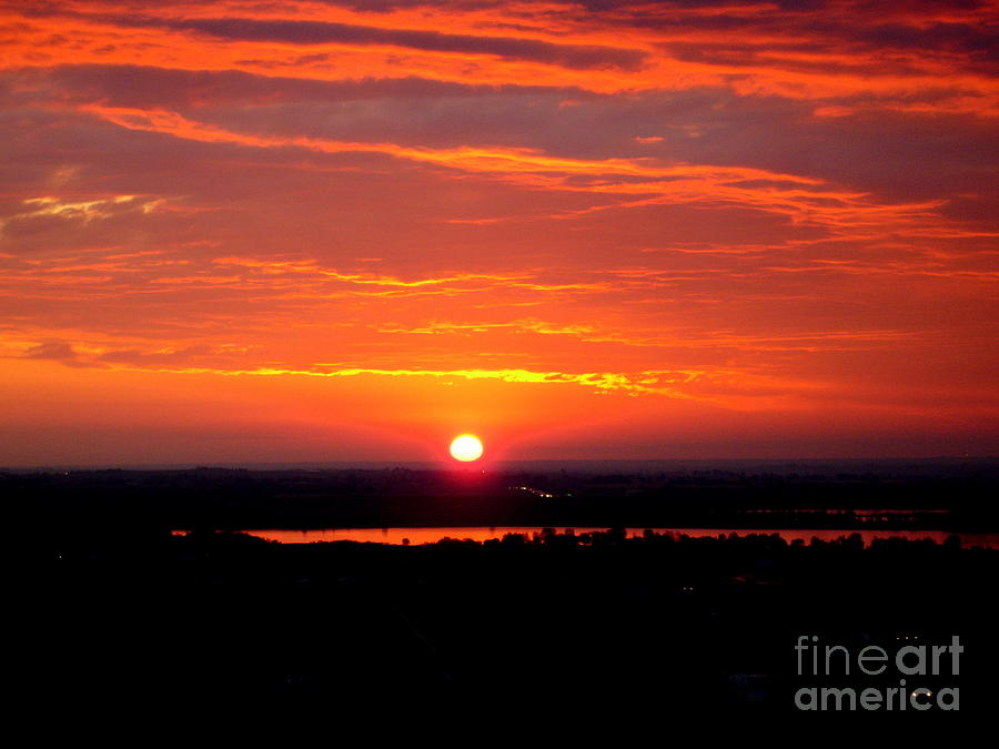 Sunrise Photograph - October Sunrise by Marilyn Magee