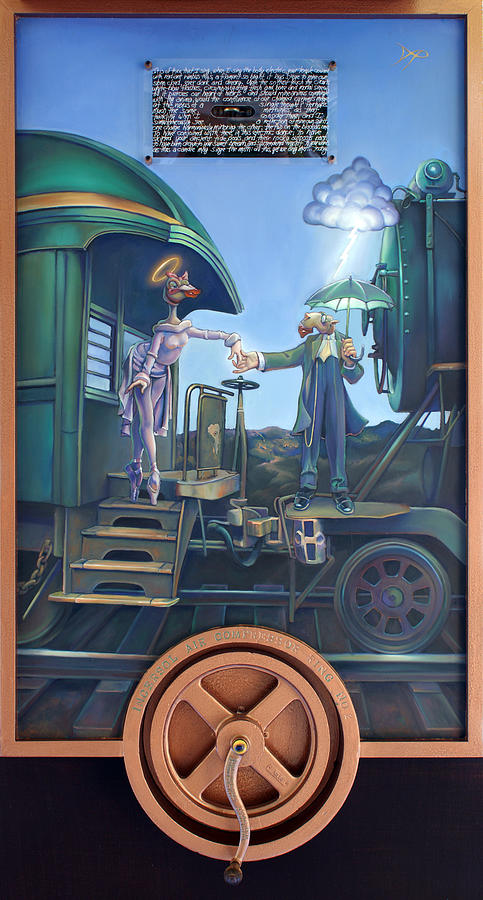 Locomotive Painting - Of Thee I Sing The Body Electric by Patrick Anthony Pierson