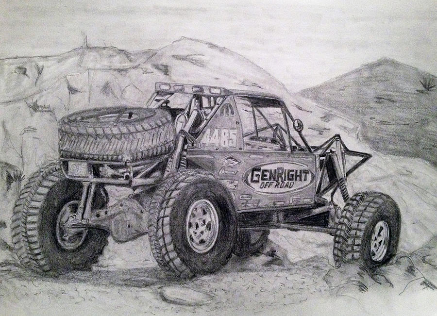 off road 4x4 drawing by todd baker. Black Bedroom Furniture Sets. Home Design Ideas