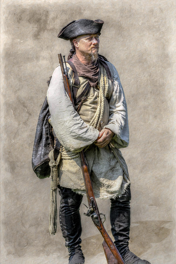Seven Years War Digital Art - Off To Fort Pitt With Bouquet by Randy Steele