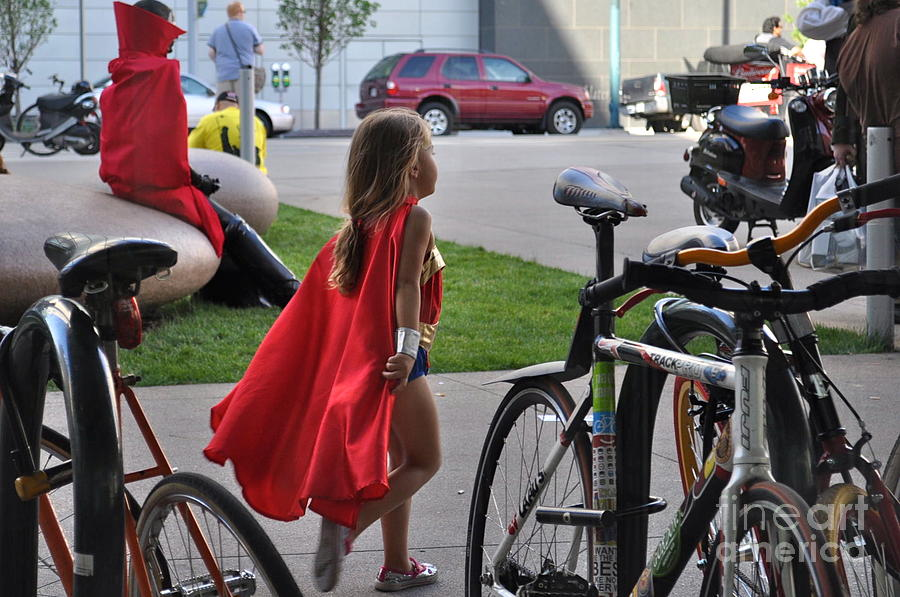 Supergirl Photograph - Off To Save The World- Back By Naptime by Anjanette Douglas