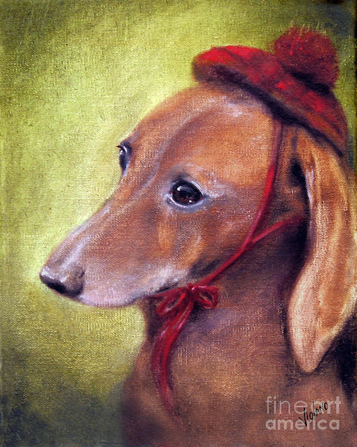 Dachshund Painting - Off To See The Queen by Stella Violano