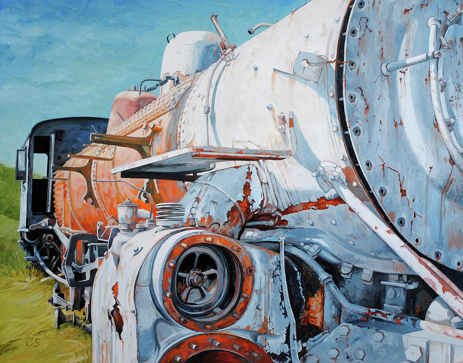 Train Painting - Off Track by Chris Steinken