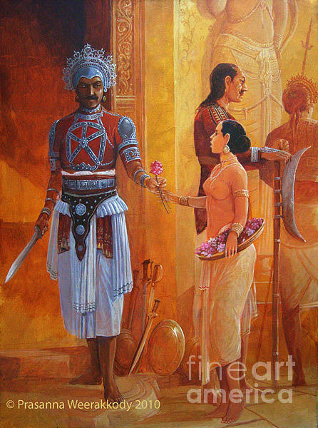Warrior Painting - Offering by Prasanna Weerakkody