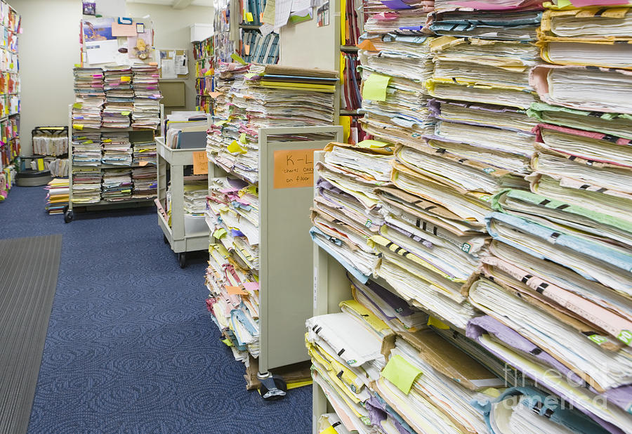 Archive Photograph - Office Files by Andersen Ross