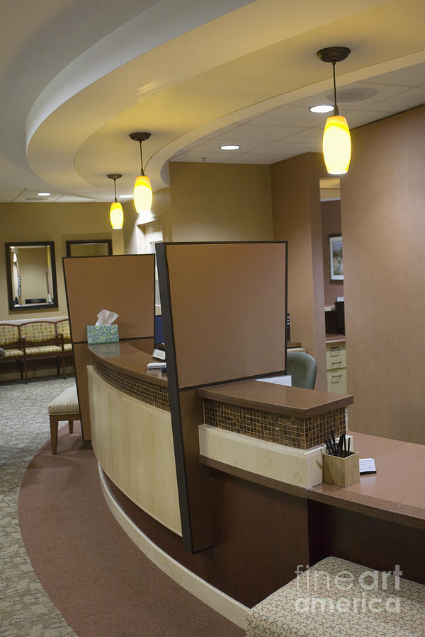 Architectural Detail Photograph - Office Reception Area by Andersen Ross