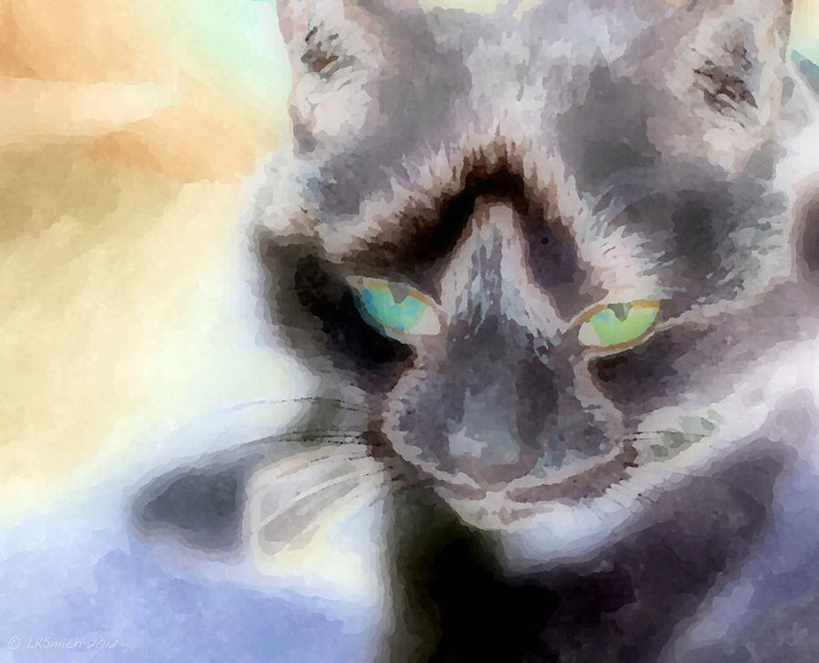 Cat Painting - Oh Kitty Kitty by Lynda K Cole-Smith