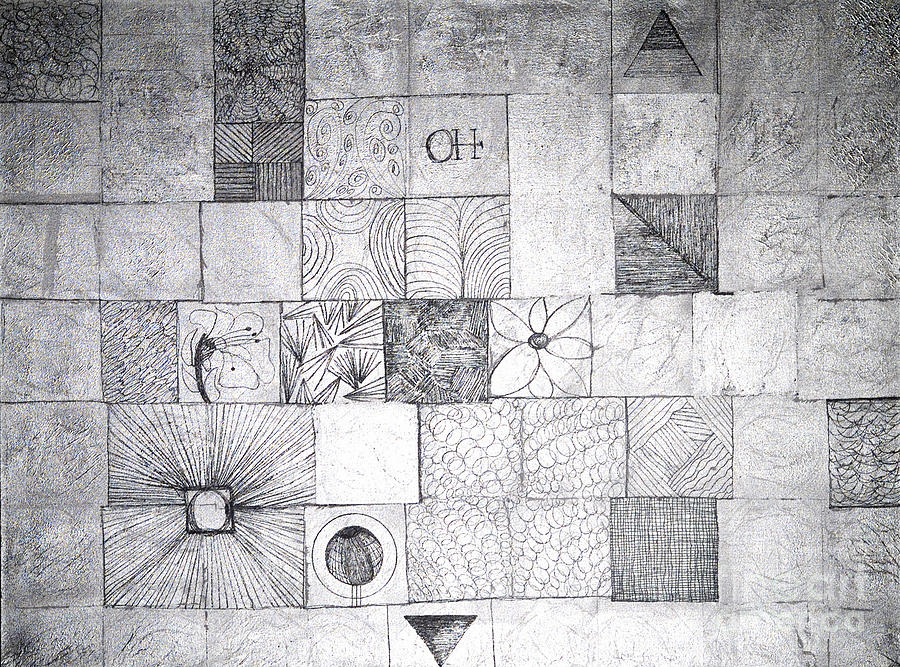 Gridded Painting - OH by Mary Blum