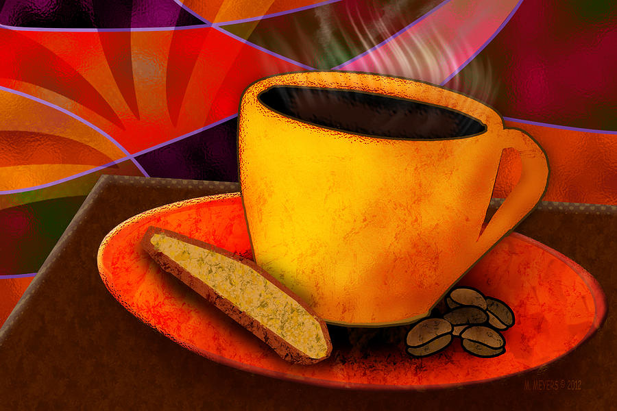 Coffee Digital Art - Ohhh.. Coffee by Melisa Meyers