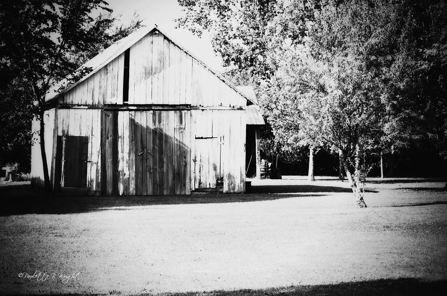 Nature Photograph - Ohio Shed Bw by Paulette B Wright