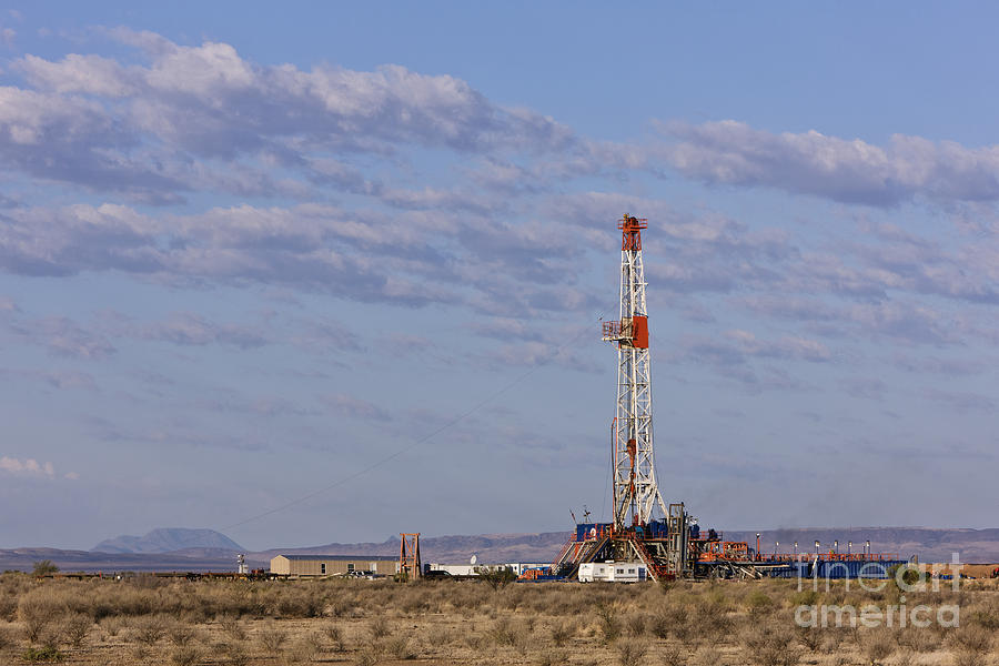 Blue Sky Photograph - Oil Exploration Drill by Jeremy Woodhouse